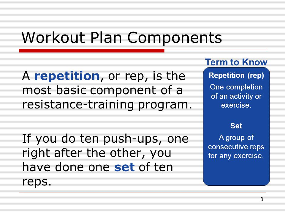 Workout Plan Components