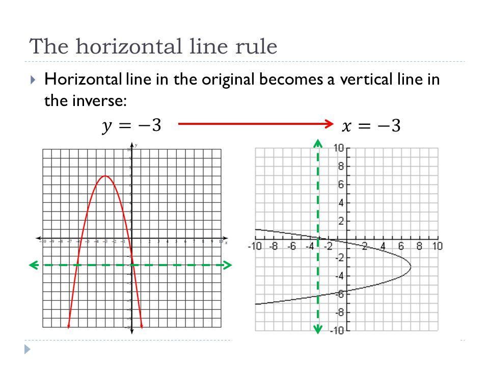 The horizontal line rule