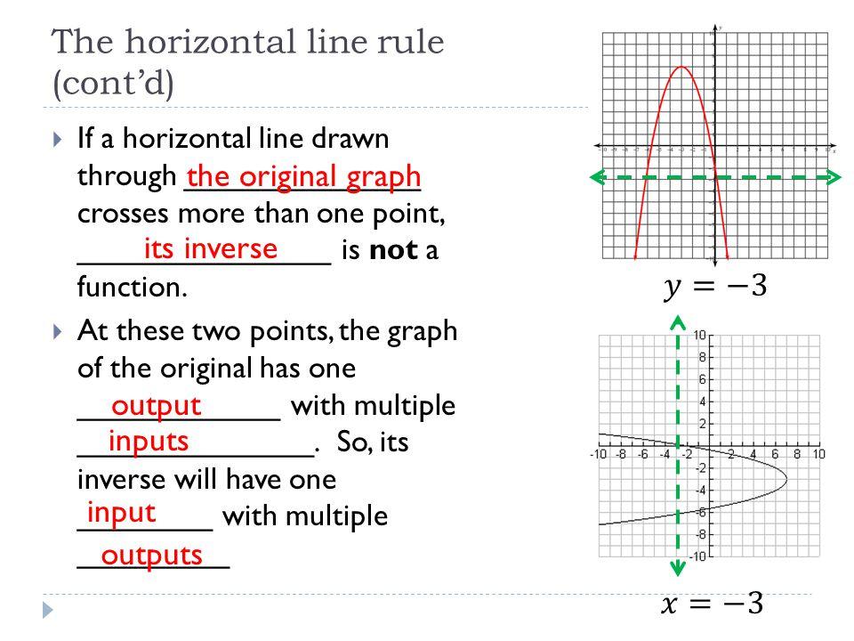 The horizontal line rule (cont'd)
