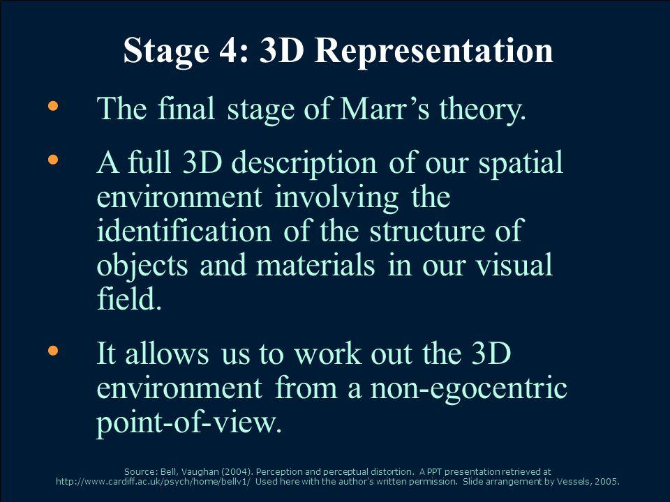 Stage 4: 3D Representation