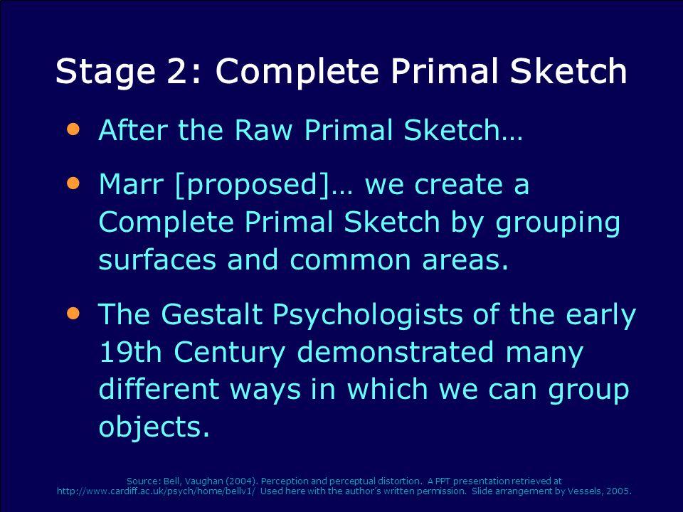 Stage 2: Complete Primal Sketch