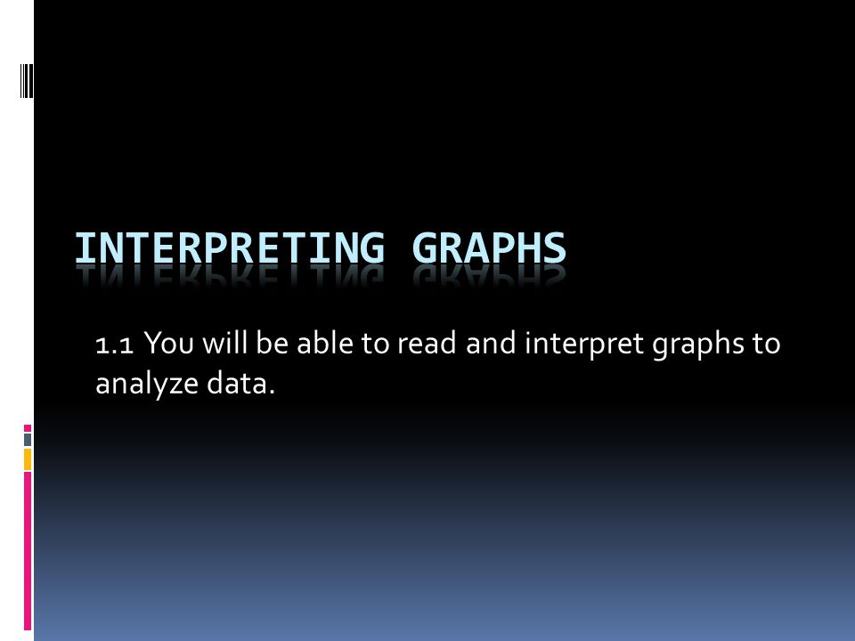 1.1 You will be able to read and interpret graphs to analyze data.