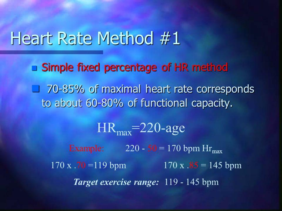 Target exercise range: 119 - 145 bpm