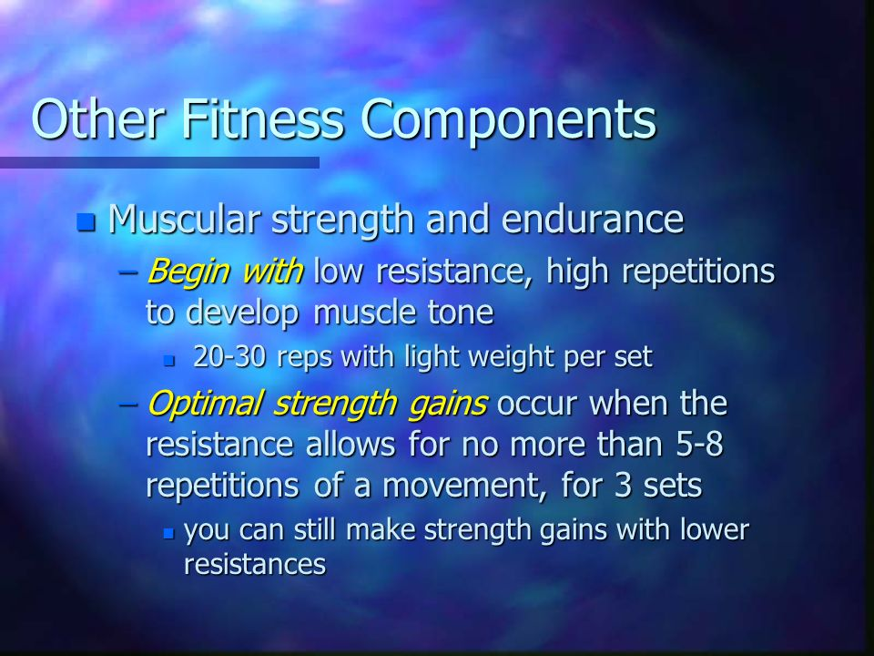 Other Fitness Components