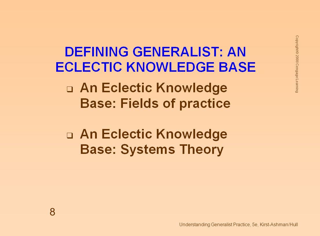 Understanding Generalist Practice, 5e, Kirst-Ashman/Hull
