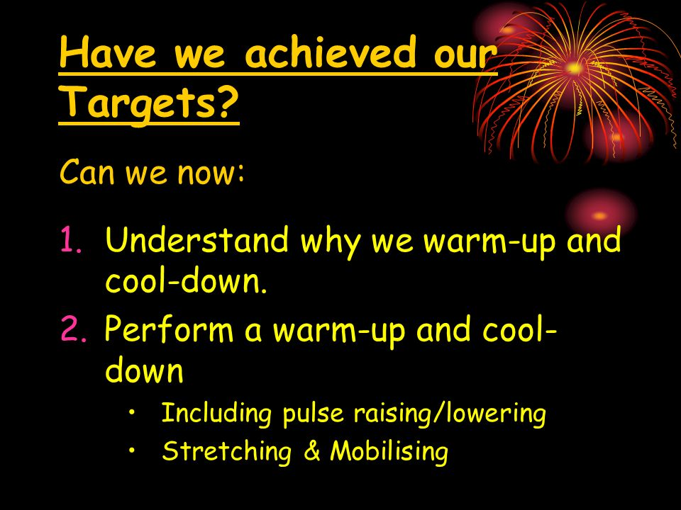 Have we achieved our Targets