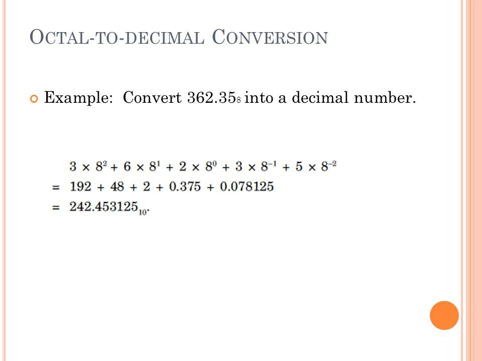 Octal-to-decimal Conversion
