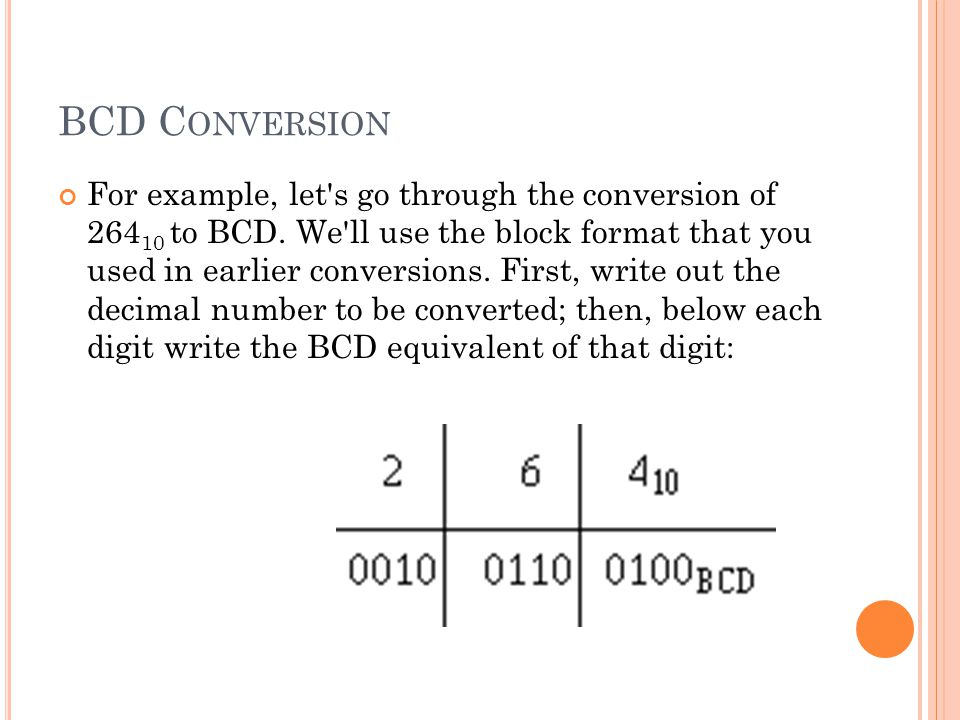 BCD Conversion