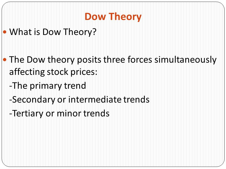 Dow Theory What is Dow Theory