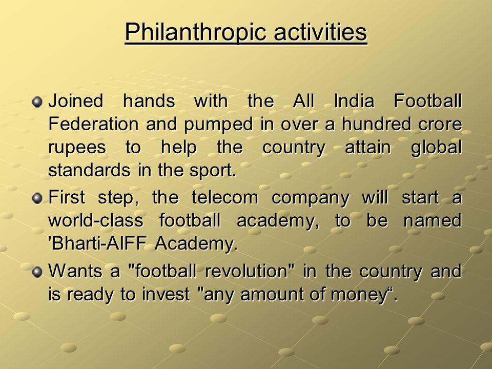 Philanthropic activities