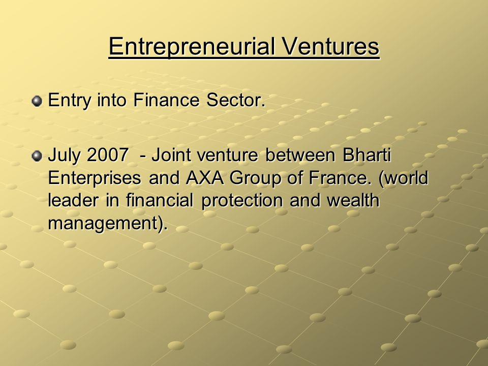Entrepreneurial Ventures