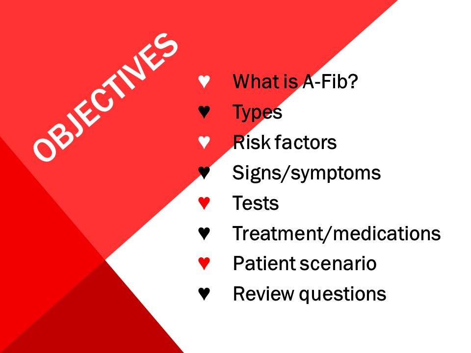 Objectives ♥ What is A-Fib.