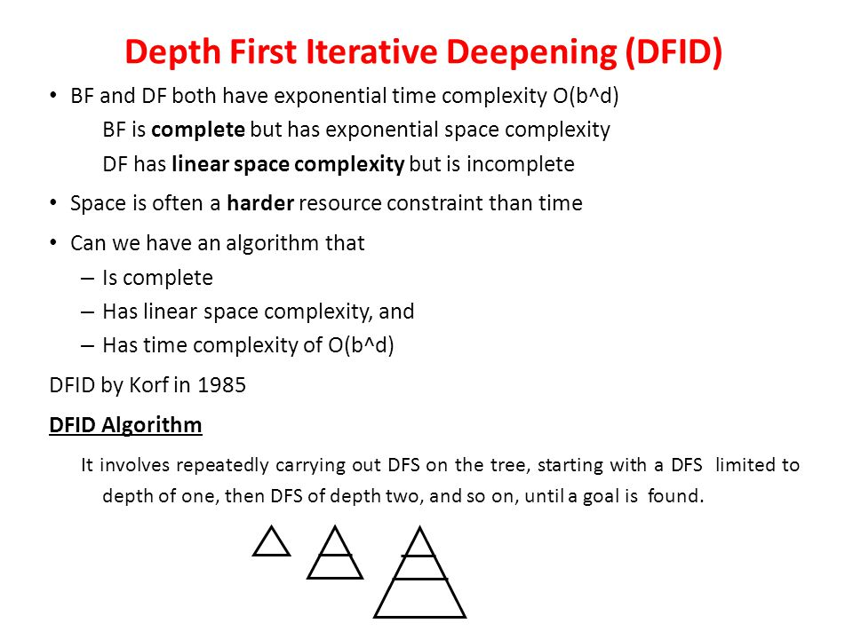 Depth First Iterative Deepening (DFID)