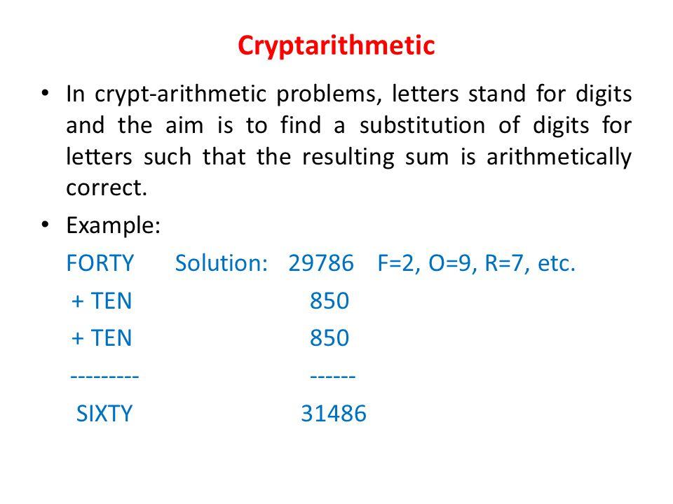 Cryptarithmetic