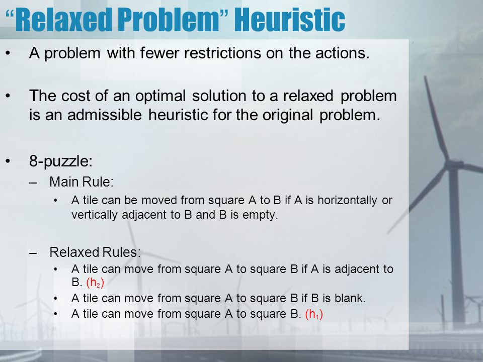 Relaxed Problem Heuristic