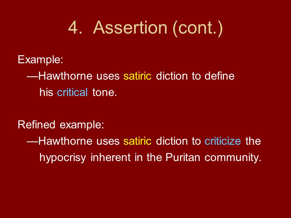 4. Assertion (cont.) Example: