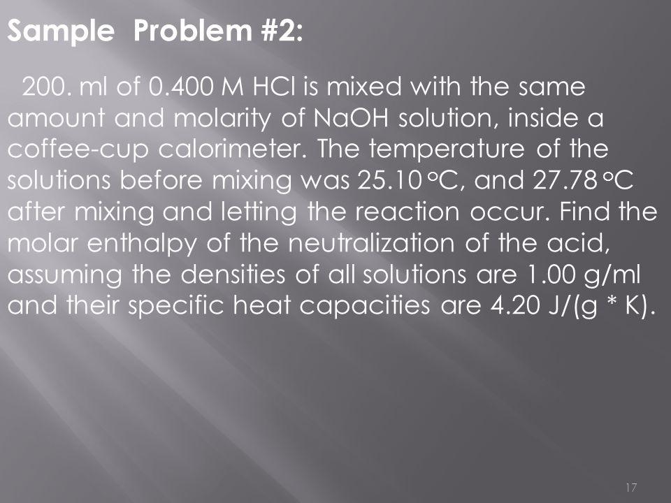 Sample Problem #2: