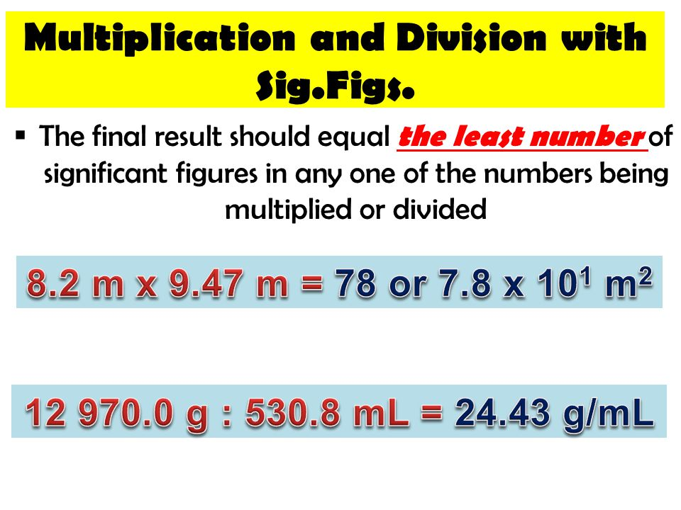 Multiplication and Division with Sig.Figs.