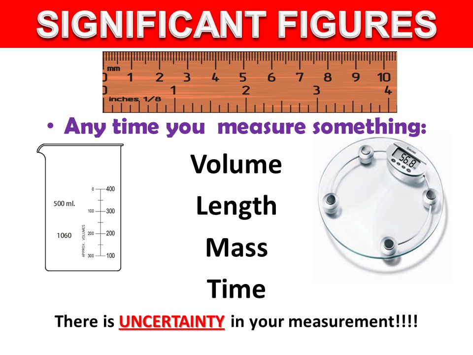 SIGNIFICANT FIGURES Volume Length Mass Time