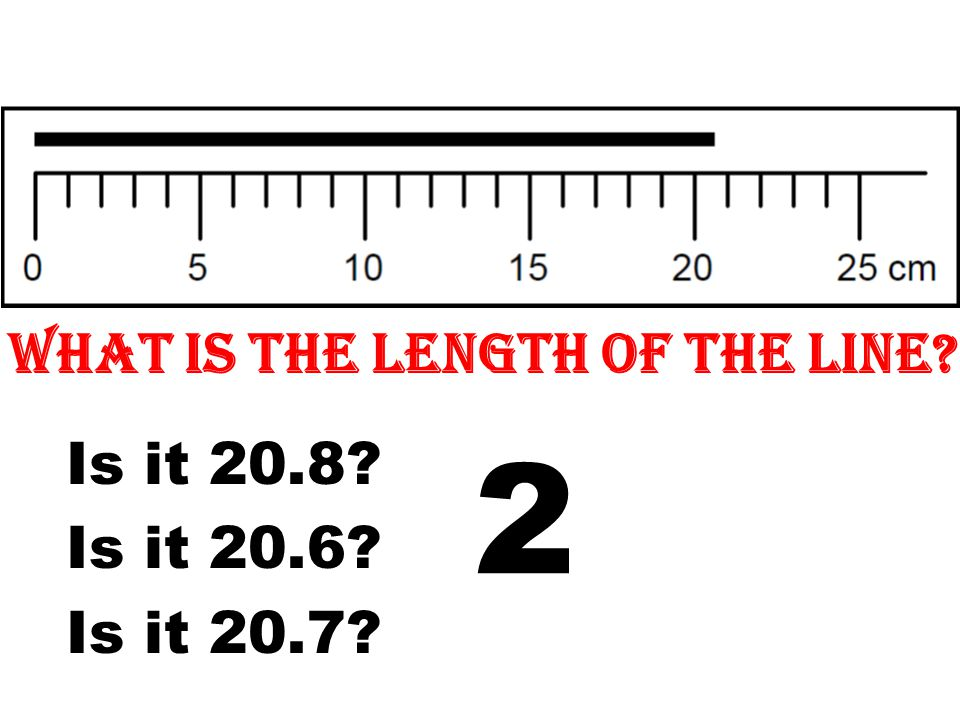 What is the length of the line