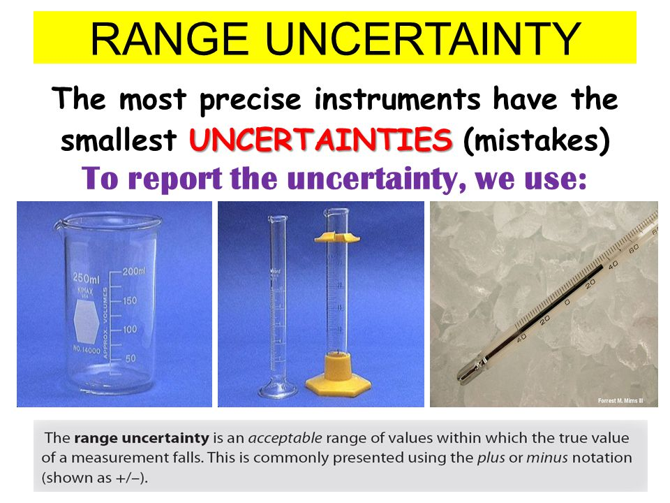 To report the uncertainty, we use: