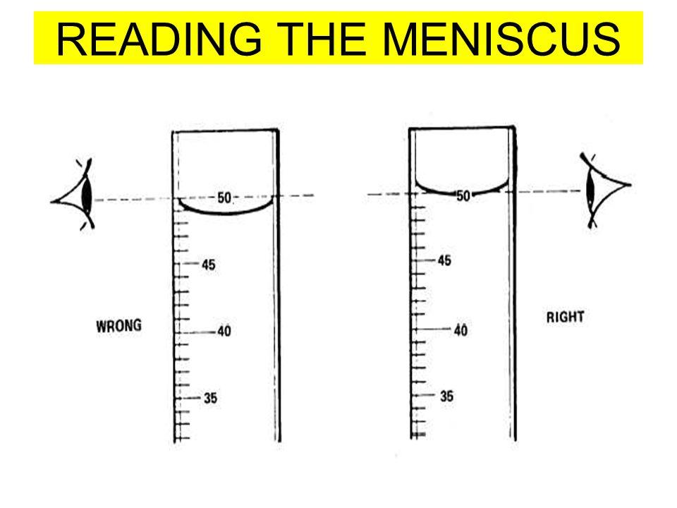 READING THE MENISCUS