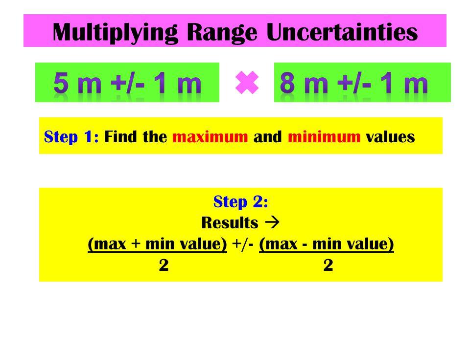 Multiplying Range Uncertainties