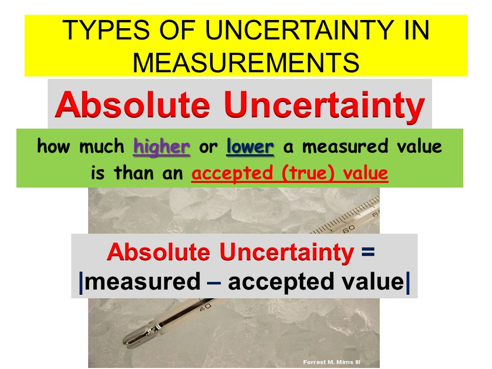 TYPES OF UNCERTAINTY IN MEASUREMENTS