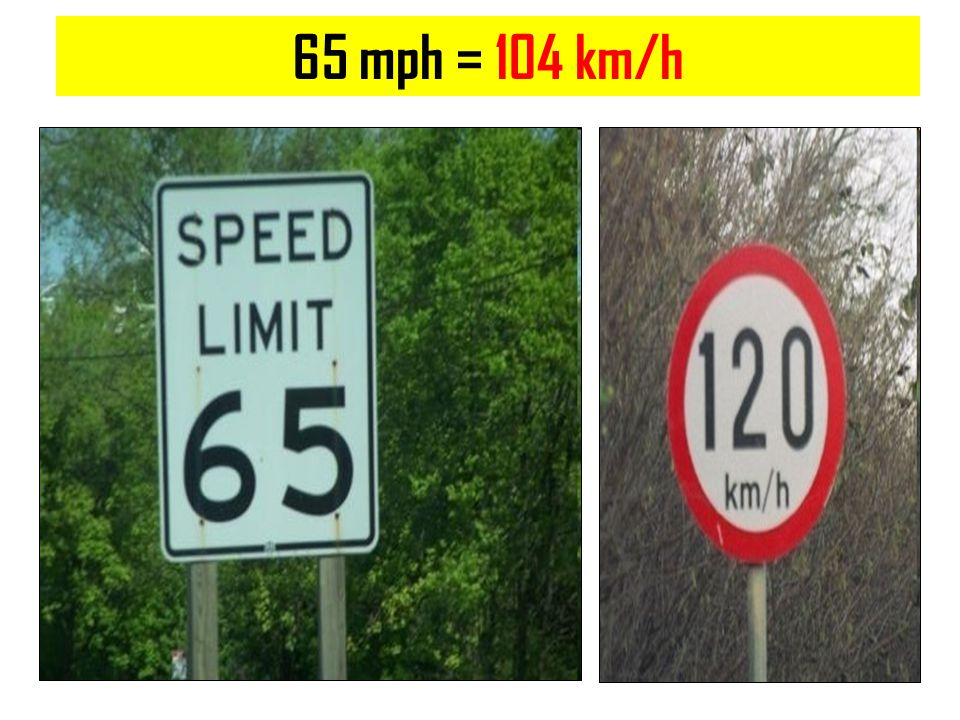 65 mph = 104 km/h Copyright © 2010 Ryan P. Murphy