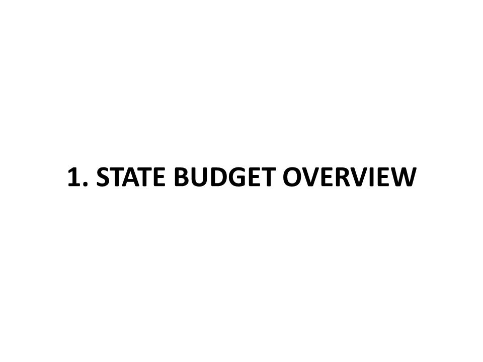 1. STATE BUDGET OVERVIEW