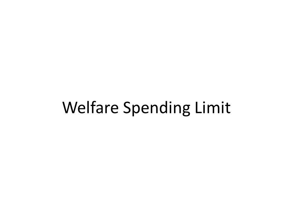 Welfare Spending Limit