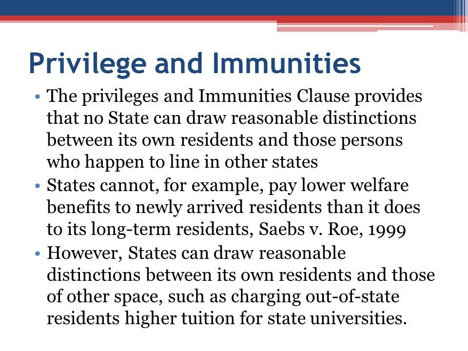 Privilege and Immunities
