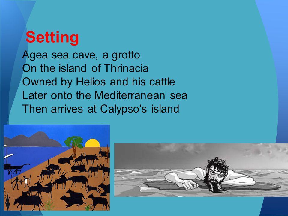 Setting Agea sea cave, a grotto On the island of Thrinacia