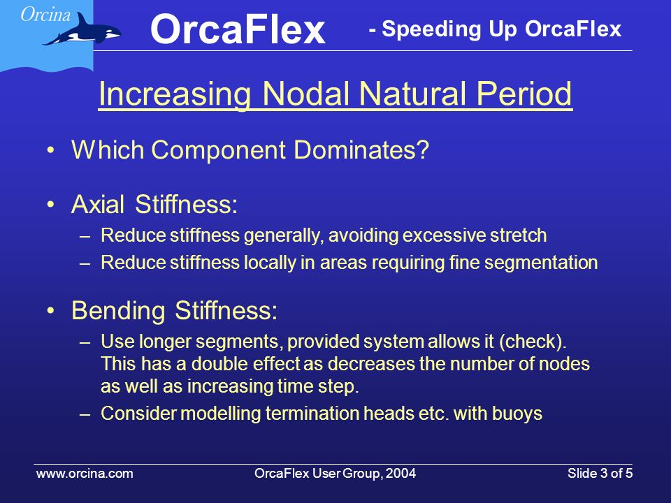 Increasing Nodal Natural Period