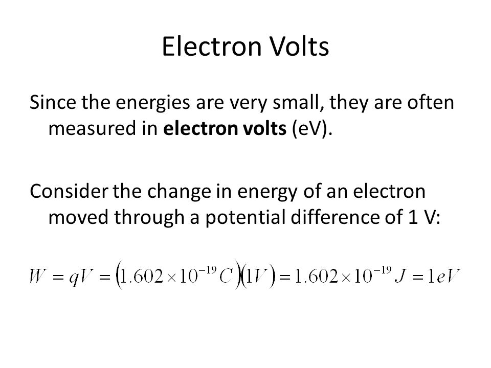 Electron Volts