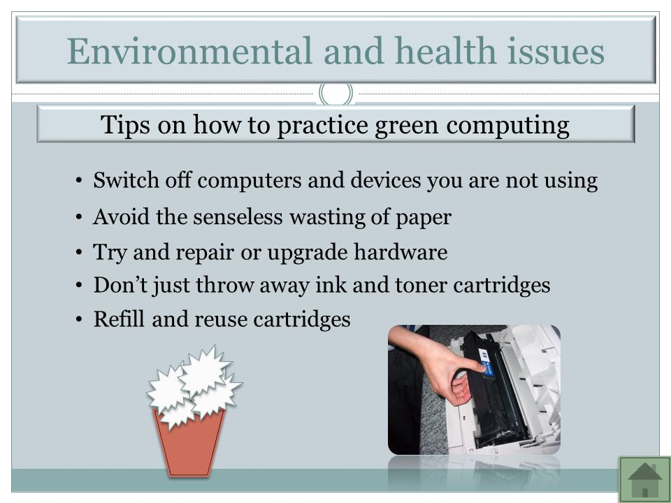 Environmental and health issues