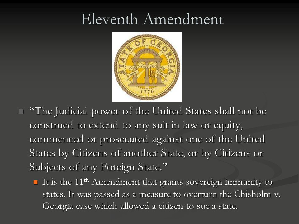 Eleventh Amendment