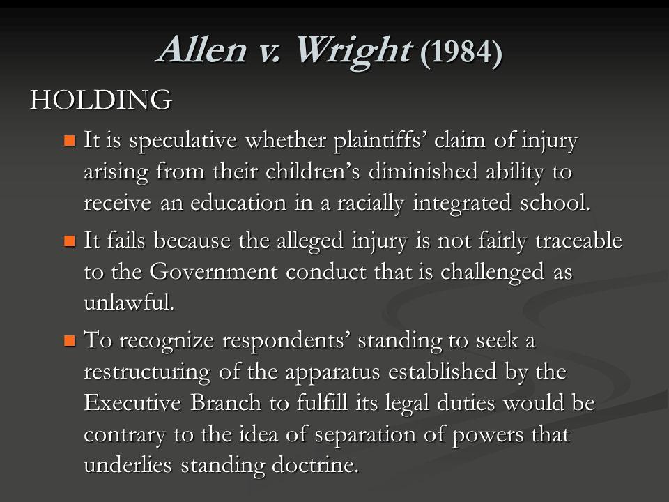 Allen v. Wright (1984) HOLDING