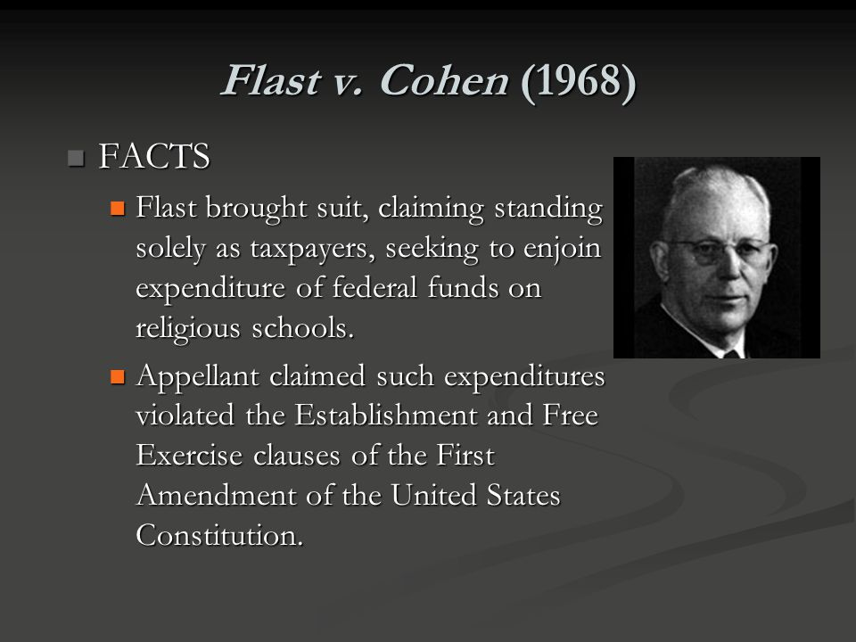 Flast v. Cohen (1968) FACTS.