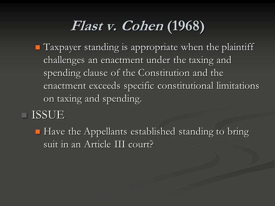 Flast v. Cohen (1968)