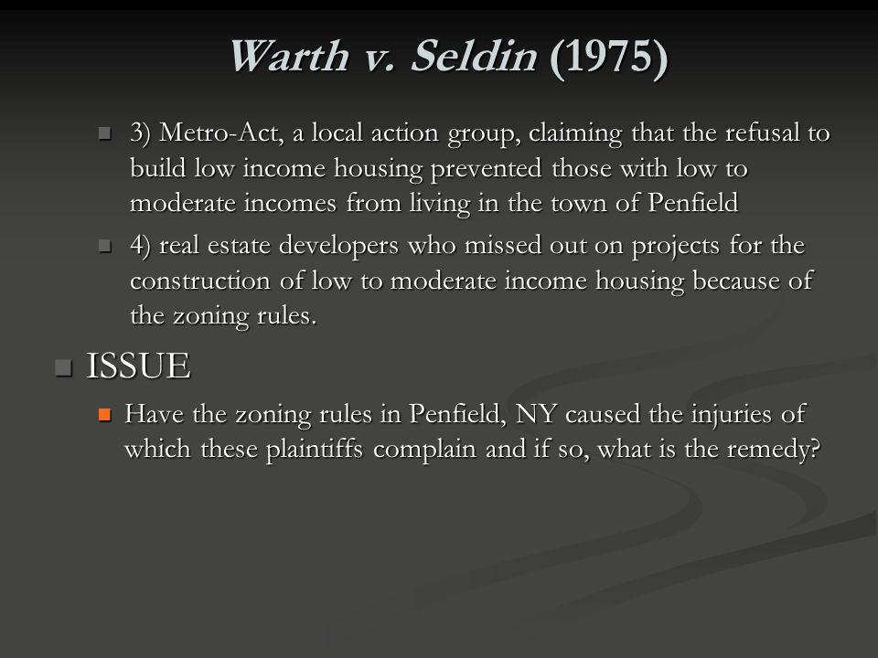 Warth v. Seldin (1975)