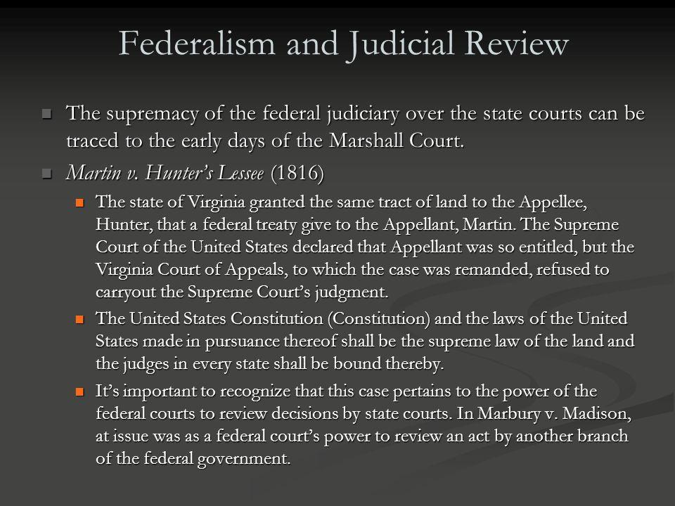 Federalism and Judicial Review