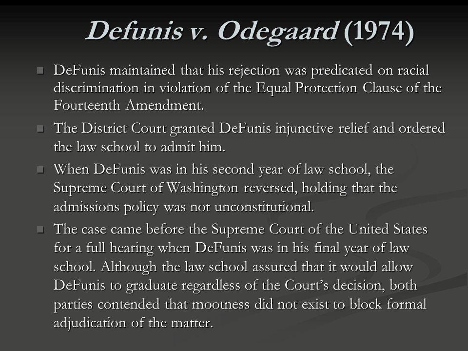 Defunis v. Odegaard (1974)