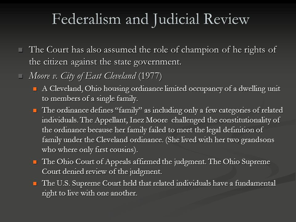 Federalism and Judicial Review