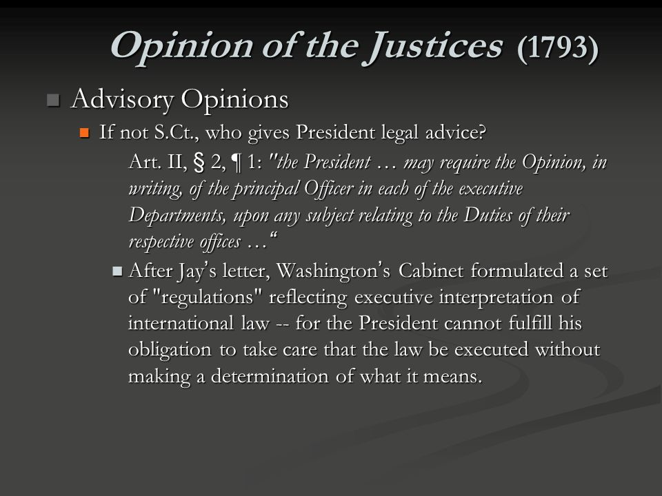 Opinion of the Justices (1793)