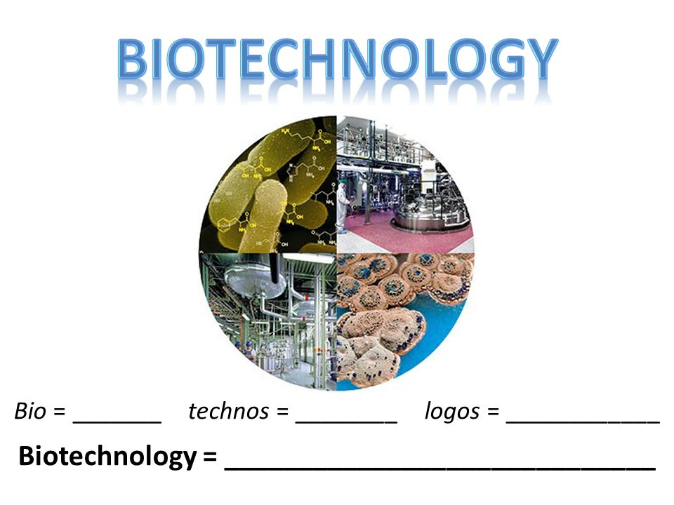 Biotechnology = _____________________________