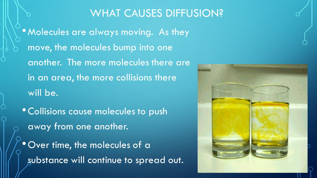 What causes Diffusion
