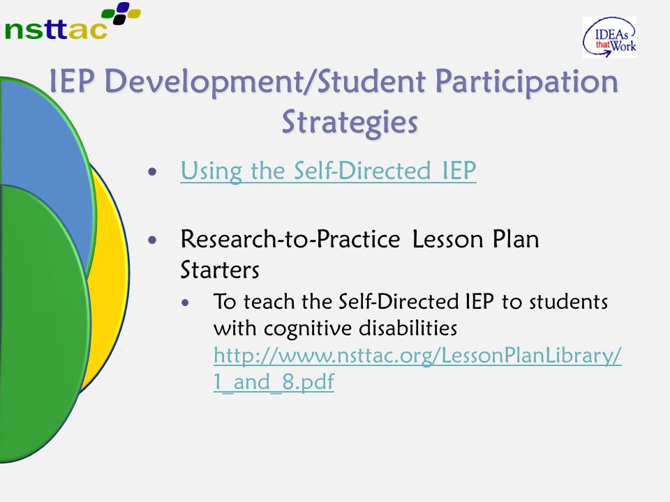 IEP Development/Student Participation Strategies