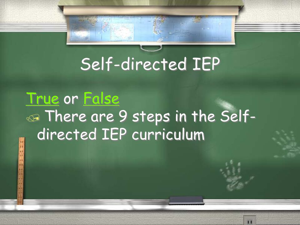 Self-directed IEP True or False