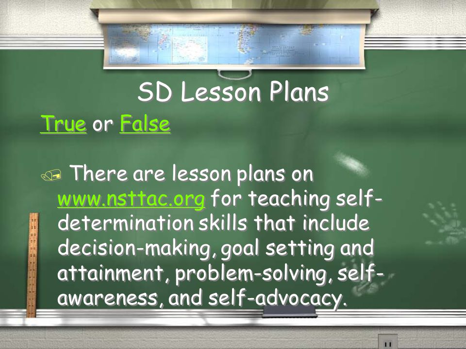 SD Lesson Plans True or False